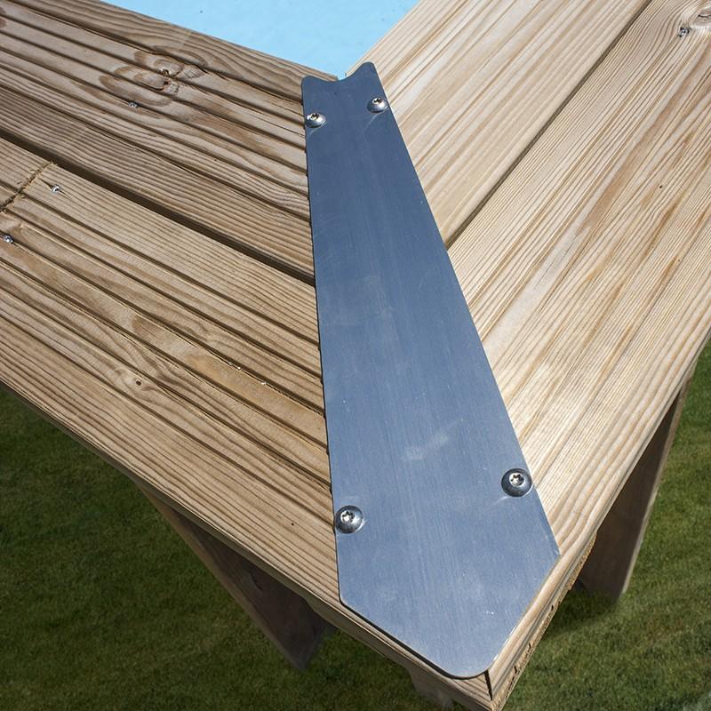 Piscina madera ovalada Camomille esquina