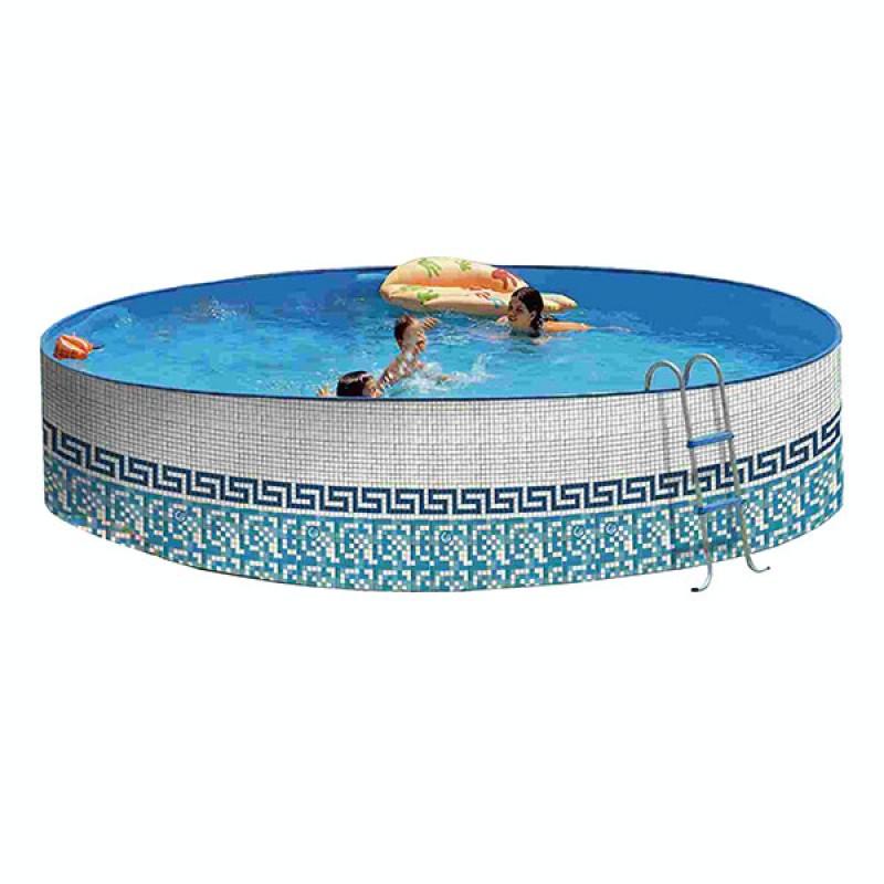Piscina acero mosaico promo toi outlet piscinas for Piscina acero