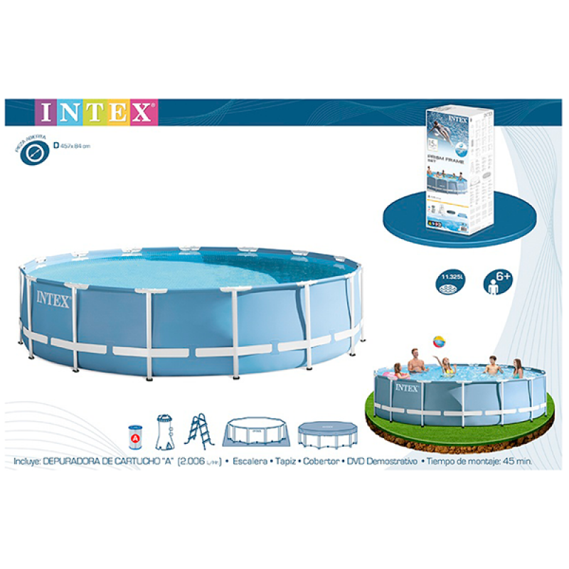 Piscina Intex Prisma Frame 457x84cm caja
