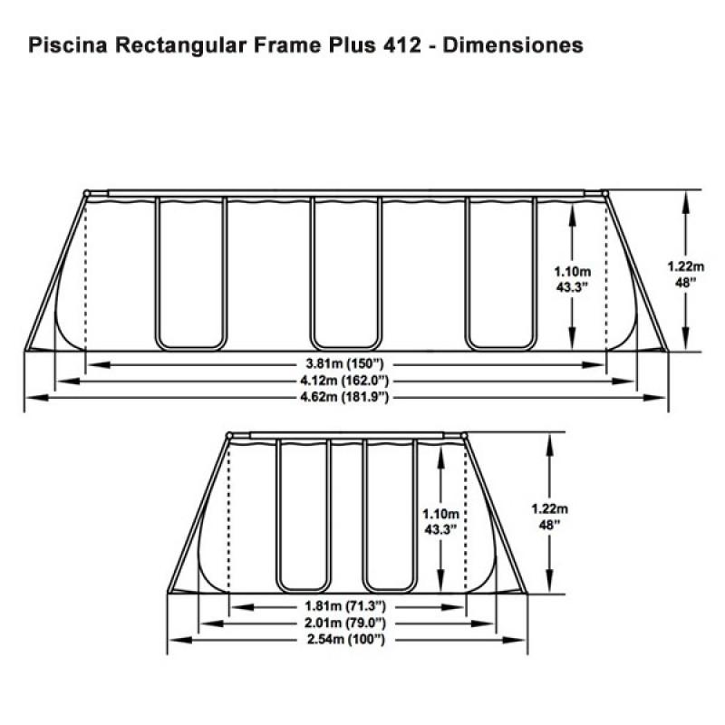 Tabla Piscina Bestway Power Steel 412x201x122