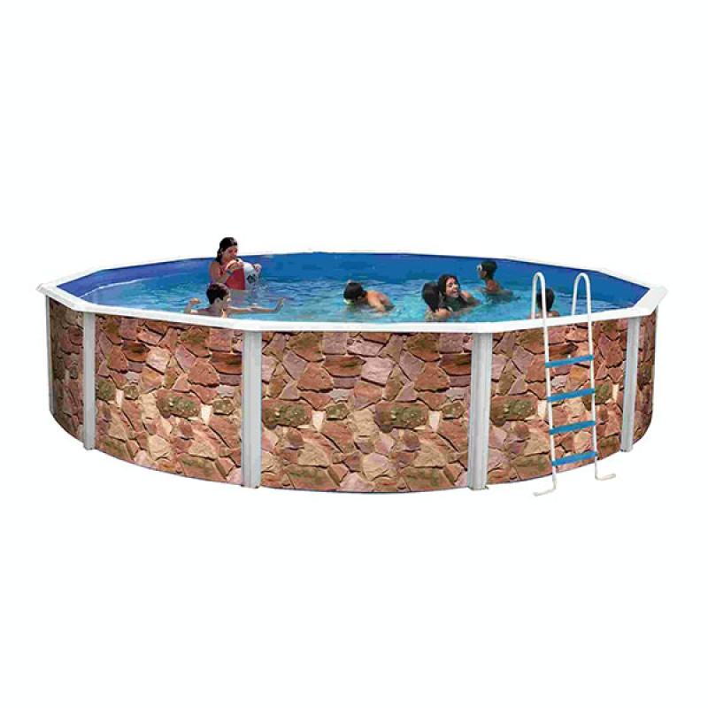 Piscina desmontable rocalla circular toi outlet piscinas for Piscinas toi