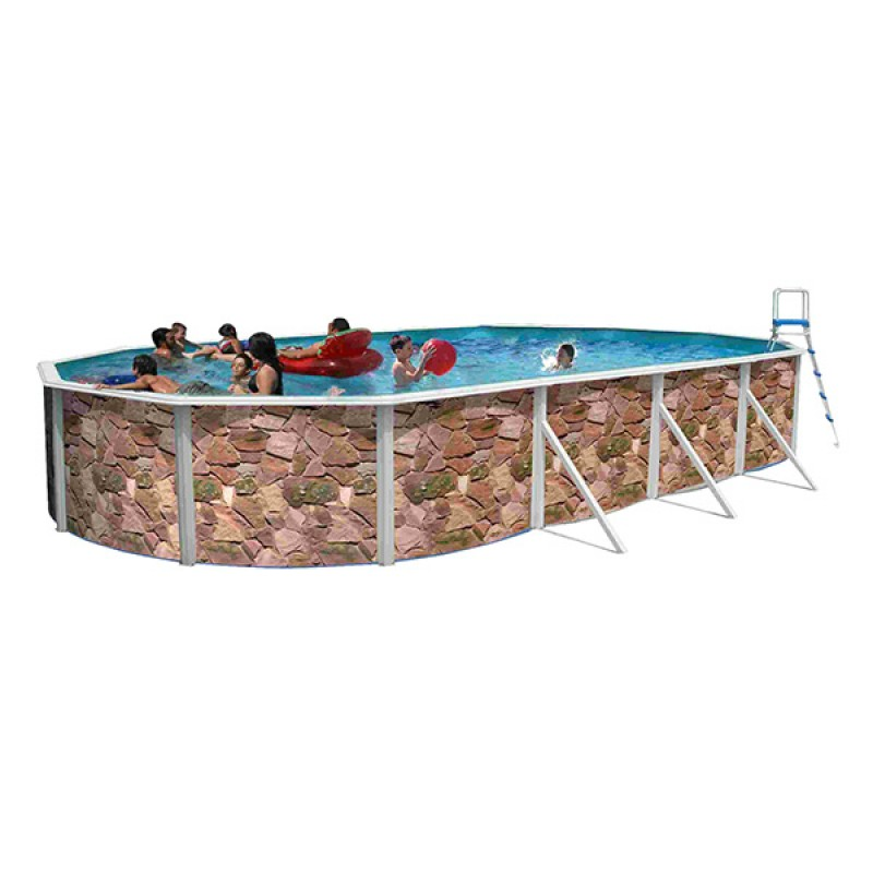 Piscina rocalla ovalada toi outlet piscinas for Piscinas toi