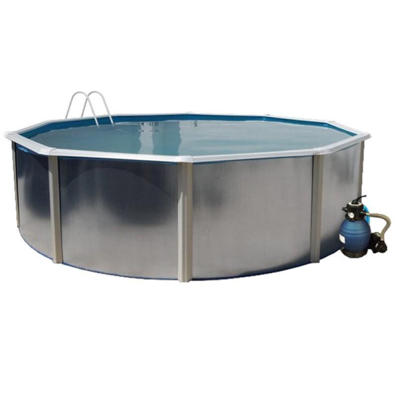 Piscina silver colores circular toi outlet piscinas for Oulet piscinas