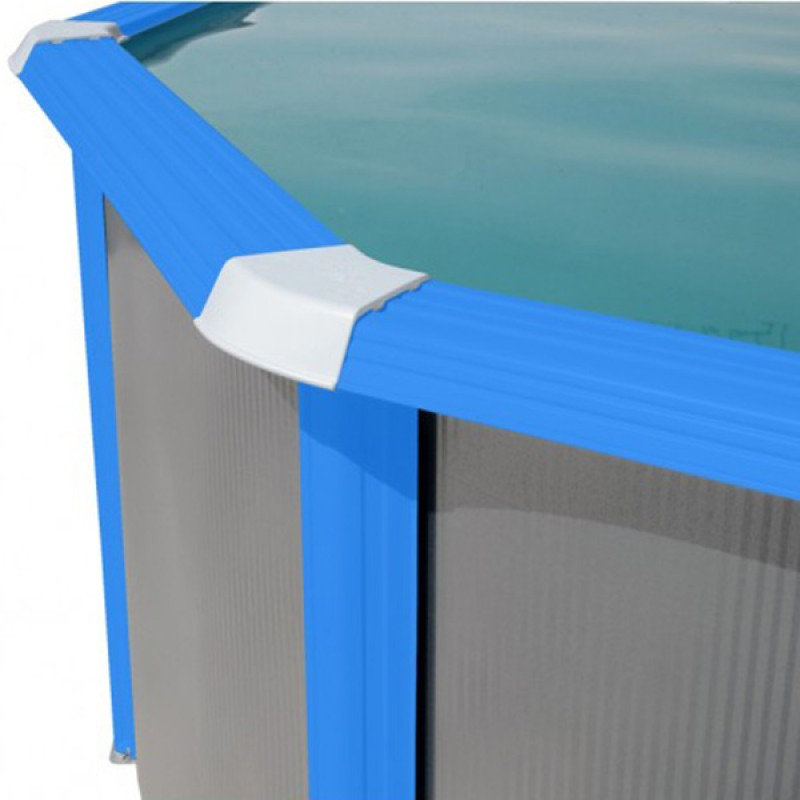 Piscina Silver Ovalada Toi perfil azul