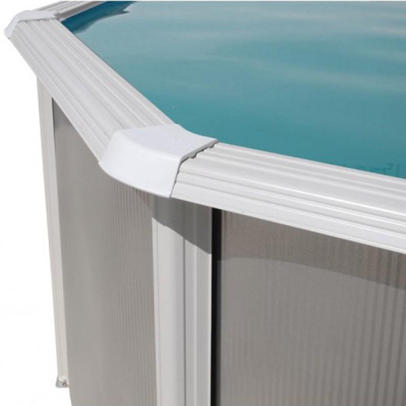 Piscina Silver Ovalada TOI 550x366x120 - Blanca