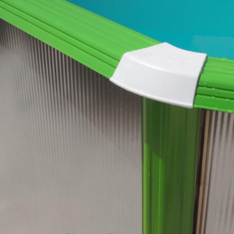Piscina Silver Ovalada Toi perfil verde