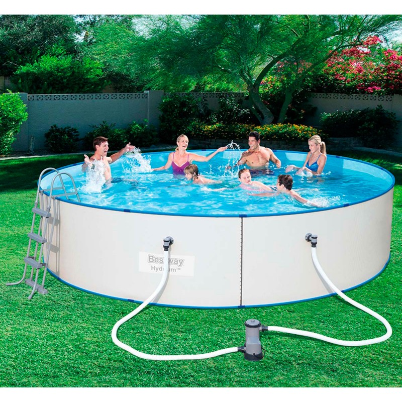 Piscina desmontable redonda hydrium splasher outlet piscinas for Piscina desmontable