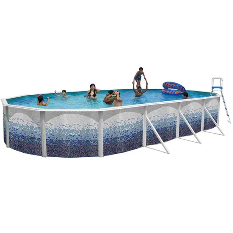 Piscina desmontable trencadis ovalada toi outlet piscinas for Piscinas toi