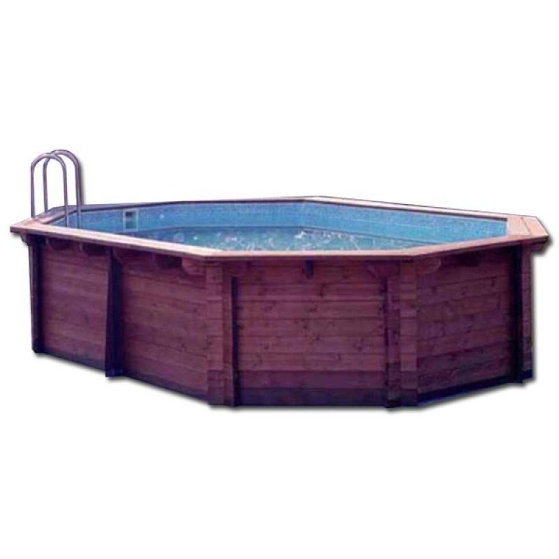 Piscina madera maciza kokido outlet piscinas for Oulet piscinas