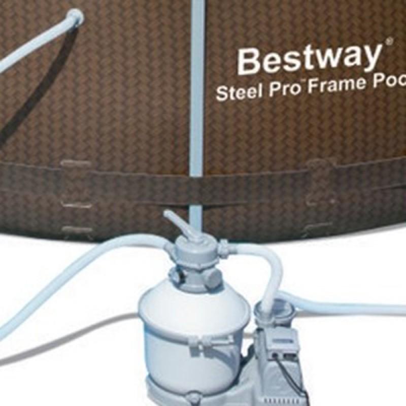 Piscina Power Steel Rattan 427 x 122 cm detalle
