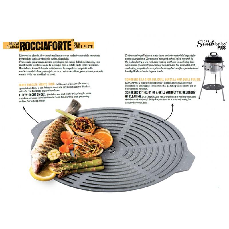 Placa de cocinado antiadherente e inoxidable