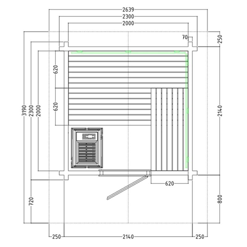 Plano Sauna Exterior Vapor Country