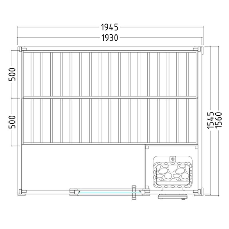 Plano Sauna Vapor Basic Medium