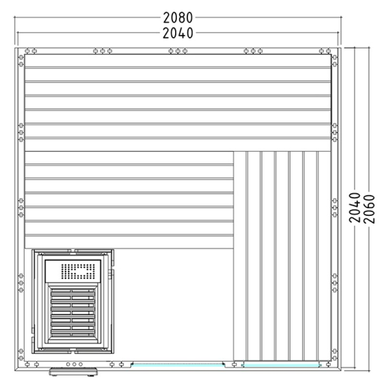 Plano Sauna Vapor Komfort Large