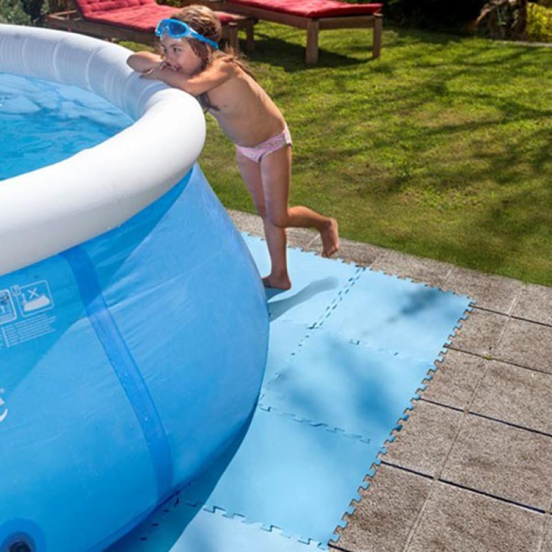 Protector de suelo para piscina gre outlet piscinas for Gres para piscinas