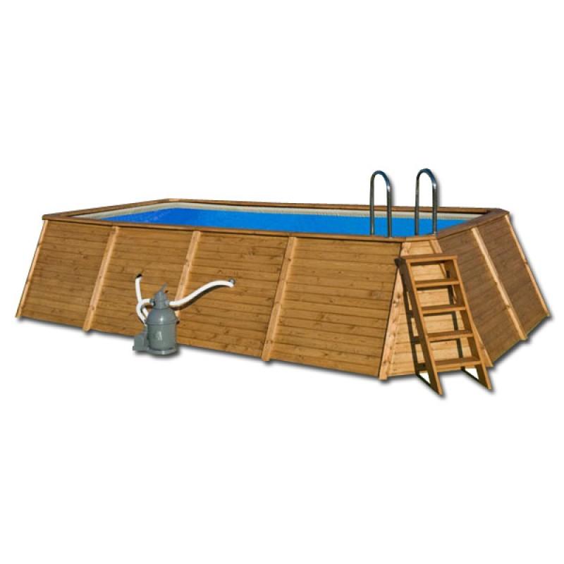 Piscina madera rectangular 655 x 390 x 124 outlet piscinas - Piscina madera rectangular ...