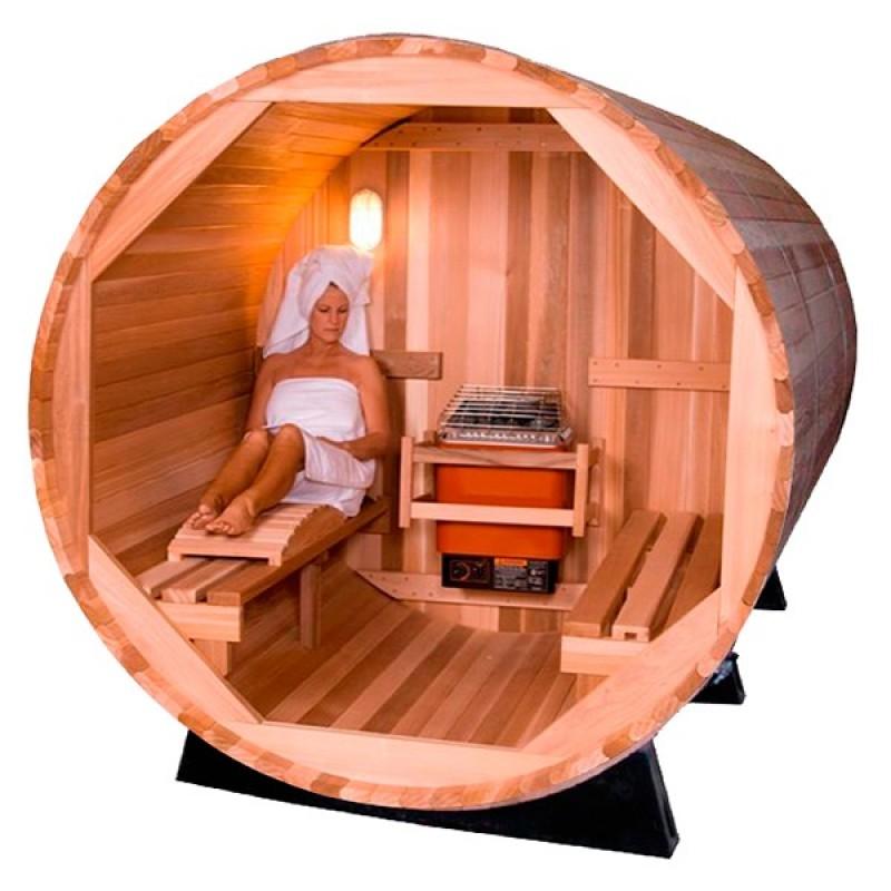 Sauna de Exterior Barril interior