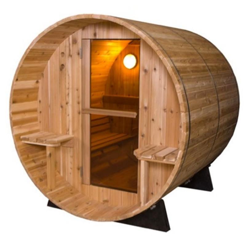 Sauna exterior barril r stica outlet piscinas - Madera para sauna ...