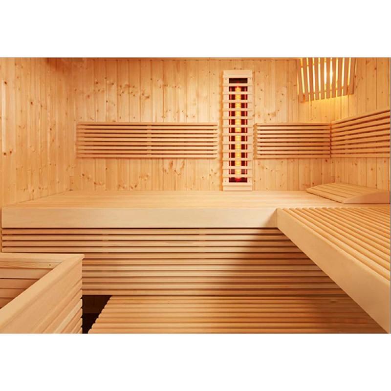 Sauna Panorama Large Kombi Interior