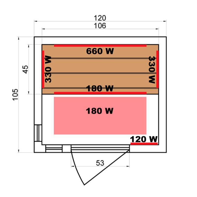 Sauna Soleil Blanc 2 Plazas