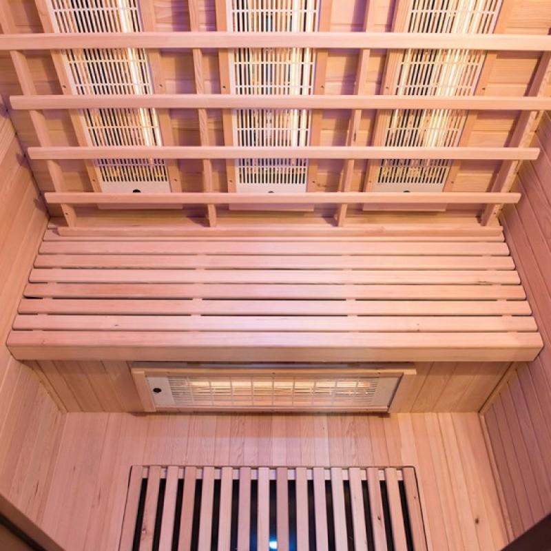 Sauna Spectra 2 plazas visión emisores