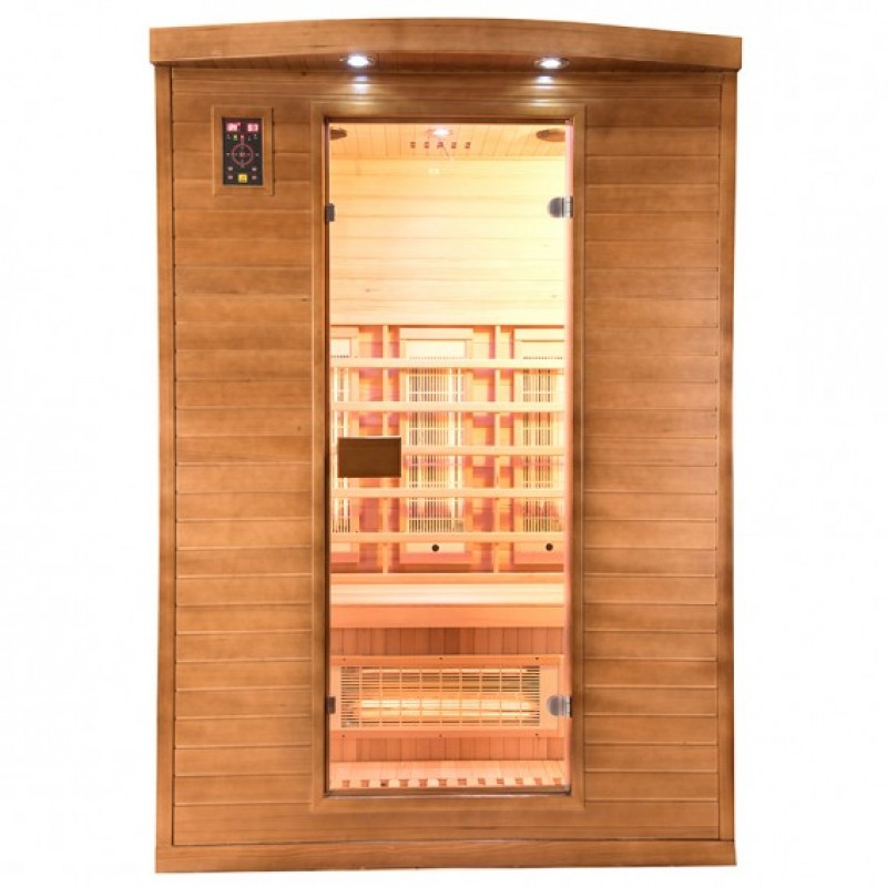 Sauna Spectra 2 plazas visión frontal