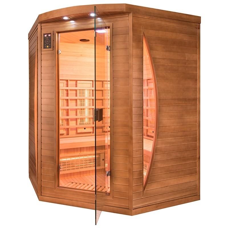 Sauna Spectra 3 plazas visión derecha