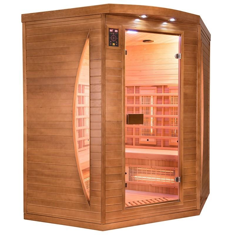 Sauna Spectra 3 plazas visión izquierda