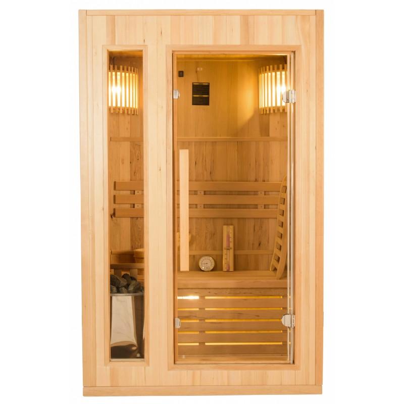 Frontal  de la Sauna de Vapor Zen 2 Personas