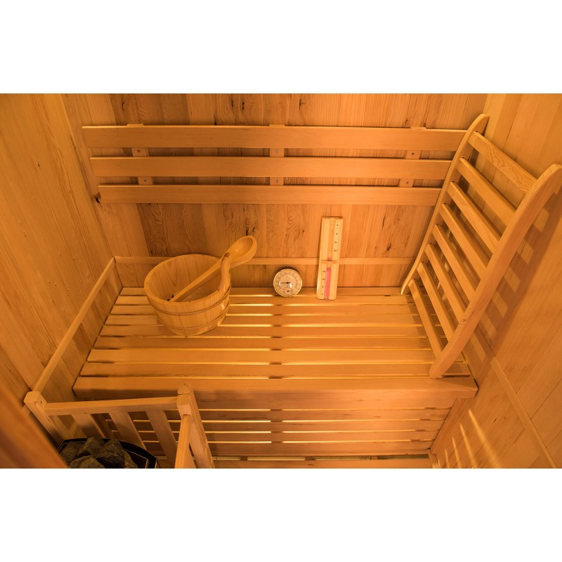 Interior Sauna de Vapor Zen 2 Personas