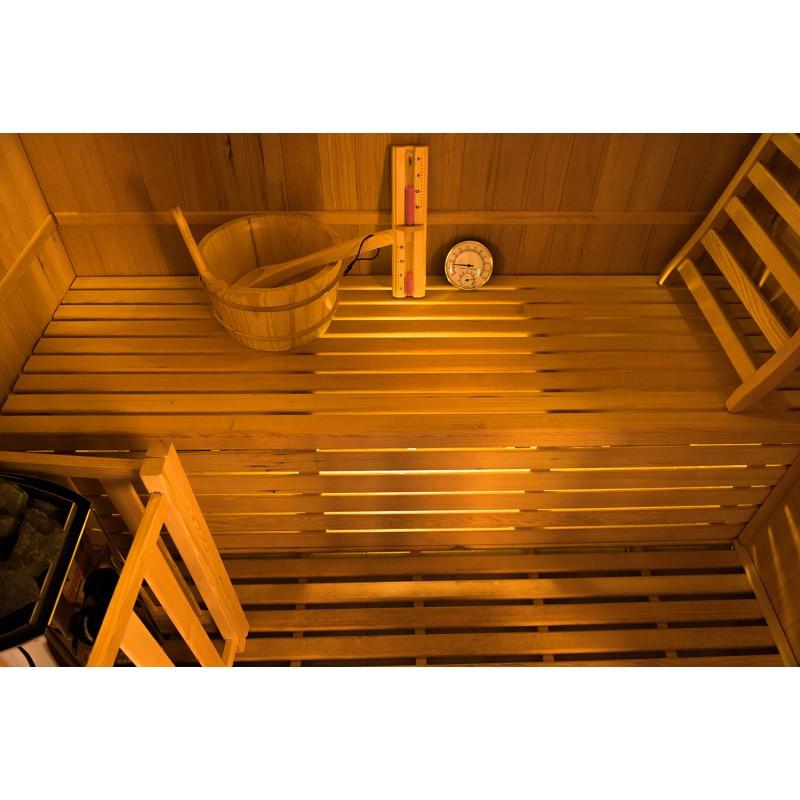 Interior  de la Sauna de Vapor Zen 2 Personas
