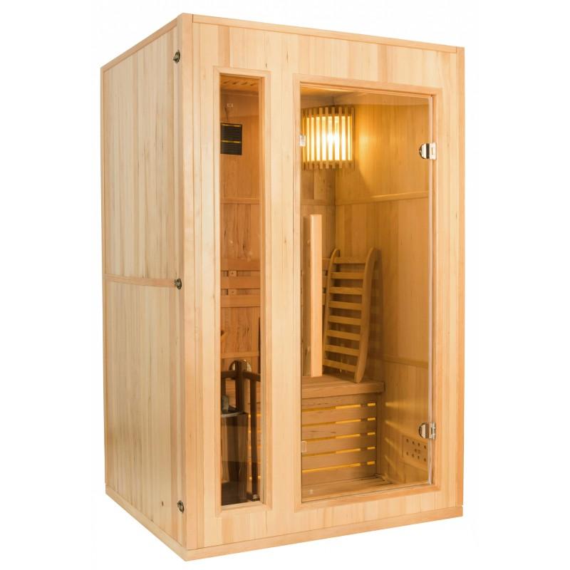 Perfil derecho  de la Sauna de Vapor Zen 2 Personas