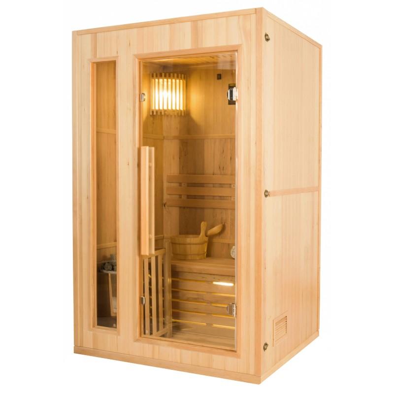 Perfil izquierdo  de la Sauna de Vapor Zen 2 Personas