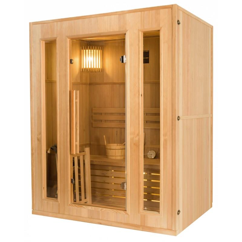 Lateral Sauna de Vapor Zen - 3 Personas