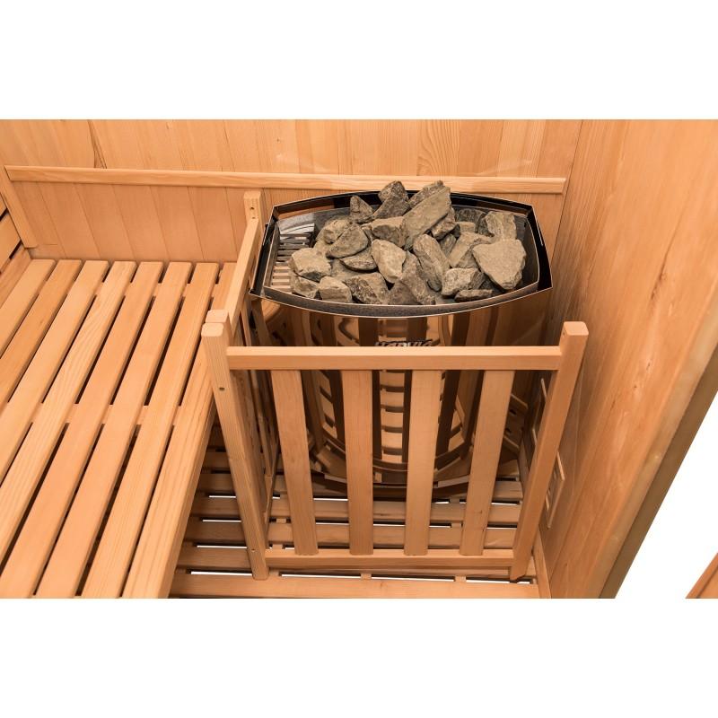 Estufa Sauna de Vapor Zen Angular para 3 Personas