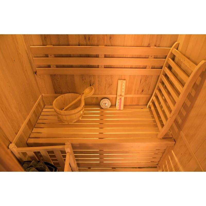 Interior Sauna de Vapor Zen - 3 Personas