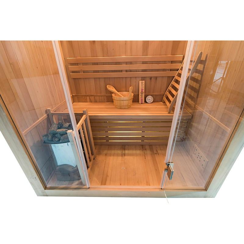 Sense Sauna de vapor para 3 personas interior