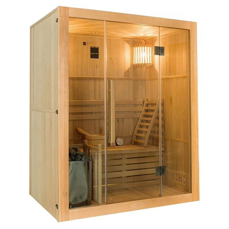 Sense Sauna de vapor para 3 personas Lateral
