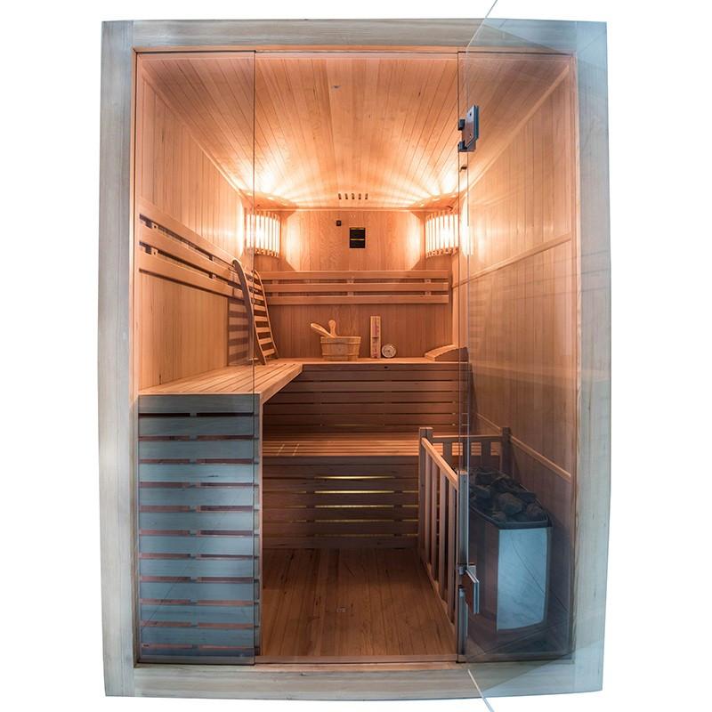 Sense Sauna de vapor para 4 plazas Frontal abierta