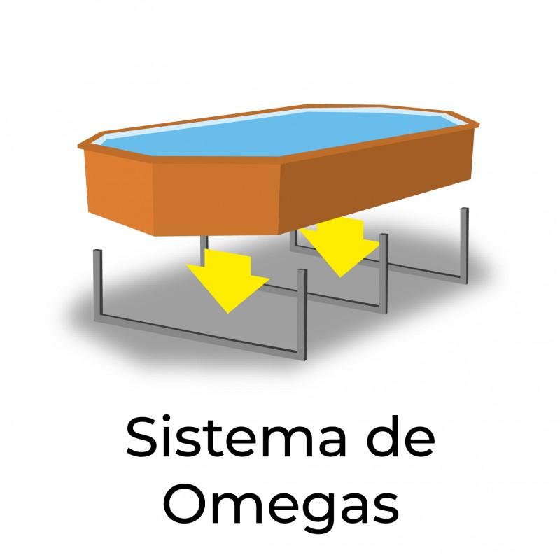 Sistema Omega Piscina de madera City cuadrada