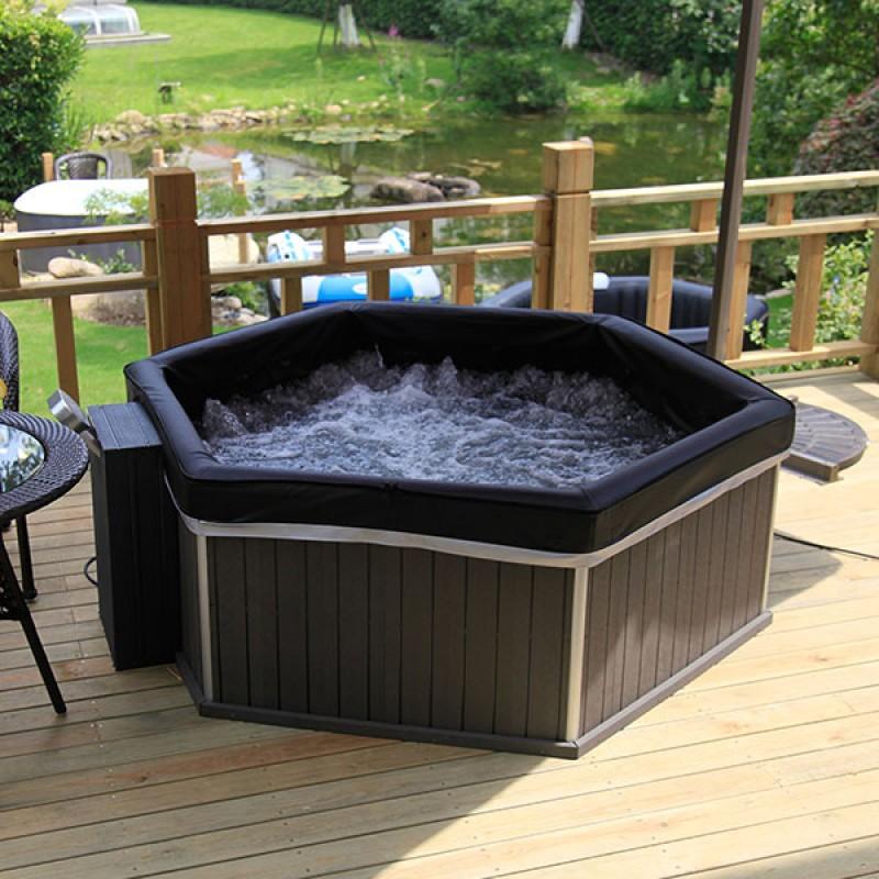 spa hinchable hexagonal outlet piscinas On jacuzzi portatil para hogar