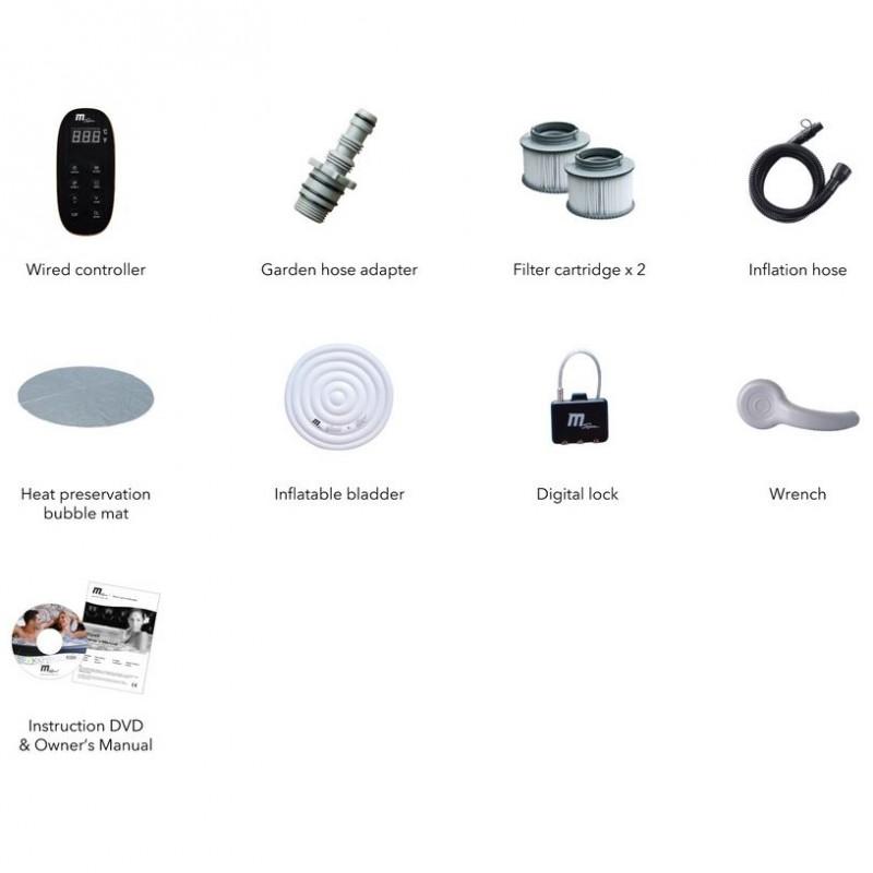 Spa hinchable Montblanc accesorios