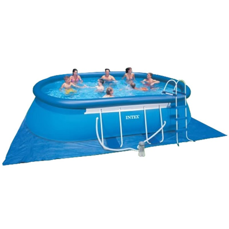 Piscina oval frame intex 610 x 366 x 122 outlet piscinas for Piscine intex ovale