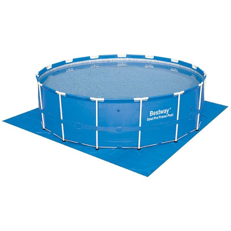 Tapiz de suelo bestway 488 x 488 cm outlet piscinas - Suelo para piscina desmontable ...