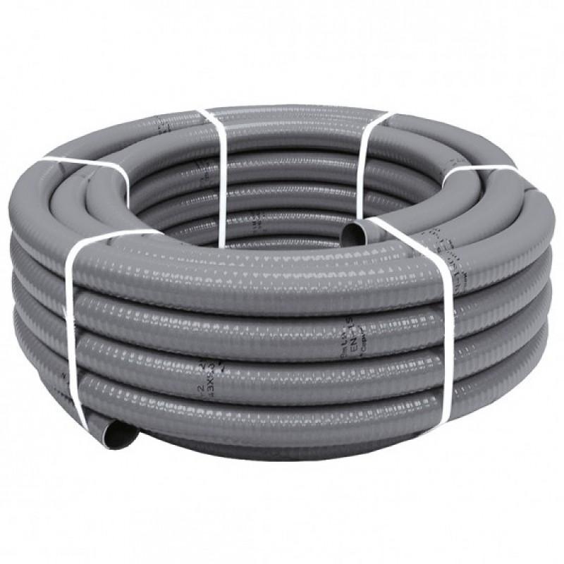 Tubería flexible en PVC gris