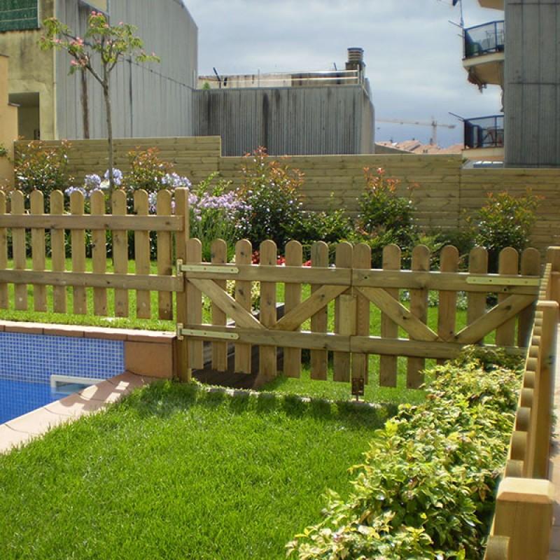 Valla de madera de pino flandes outlet piscinas - Vallas de madera para piscinas ...
