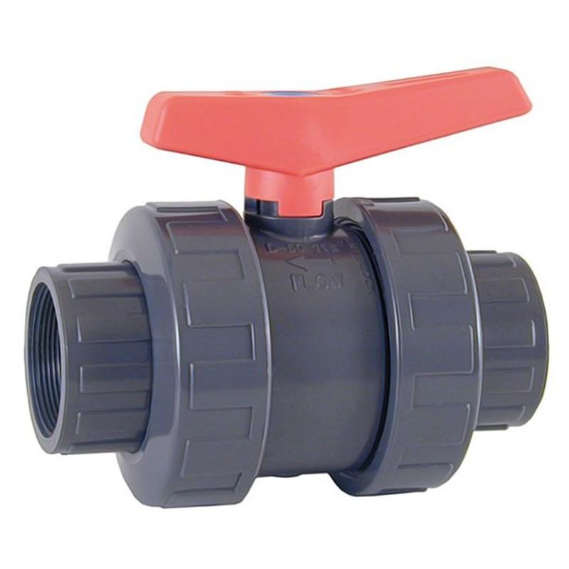 Válvula de bola Standard PVC Teflón®-FPM roscar