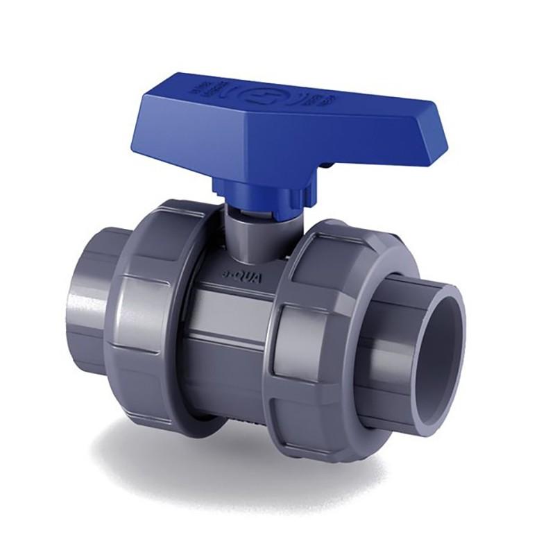 Válvula de bola e-QUA PVC PN12 roscar