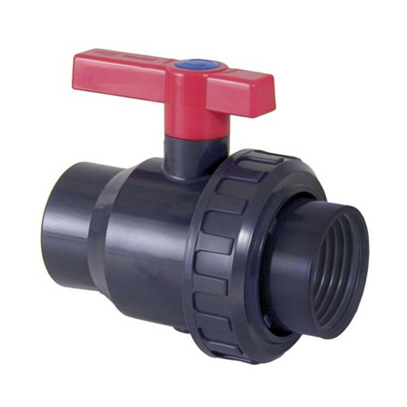 Válvula de bola Uniblock PVC PE-EPDM roscar