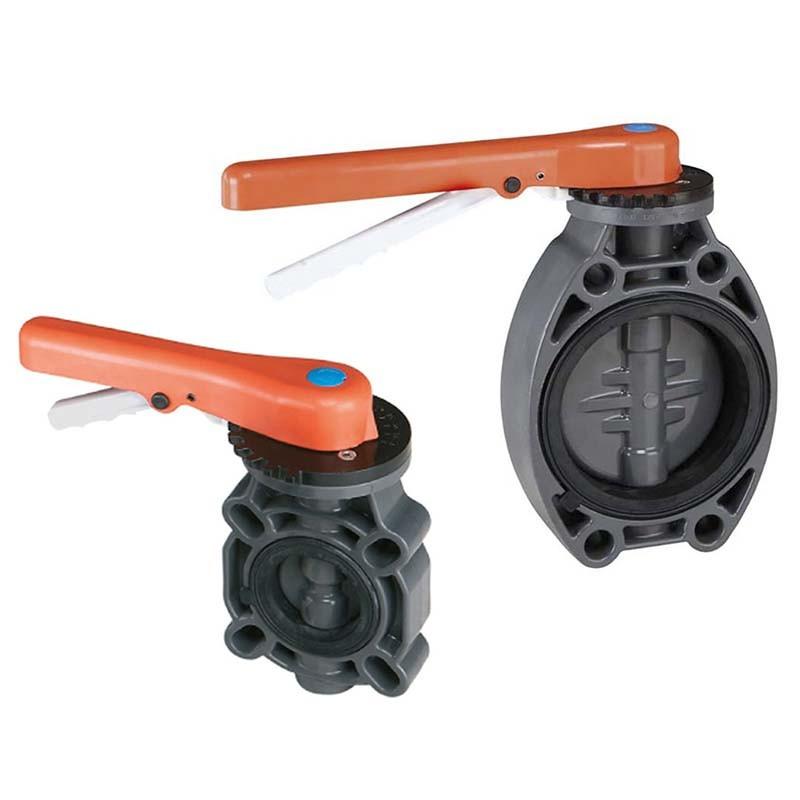 Válvula de mariposa PVC Serie Standard FPM